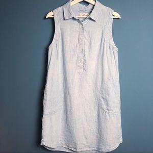 Vineyard Vines Linen Sleeveless Shirt Dress Size 8